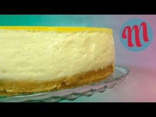 Tarta de queso y limón   RECETA FÁCIL SIN HORNO