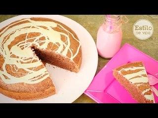 Bizcocho de chocolate fácil sin huevo