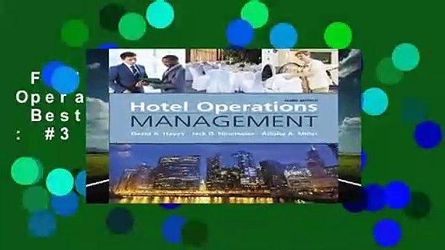 Full version  Hotel Operations Management  Best Sellers Rank : #3