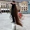 Girl Long Hair | girl long hair to bald | girl long hair dance | funvid tiktok