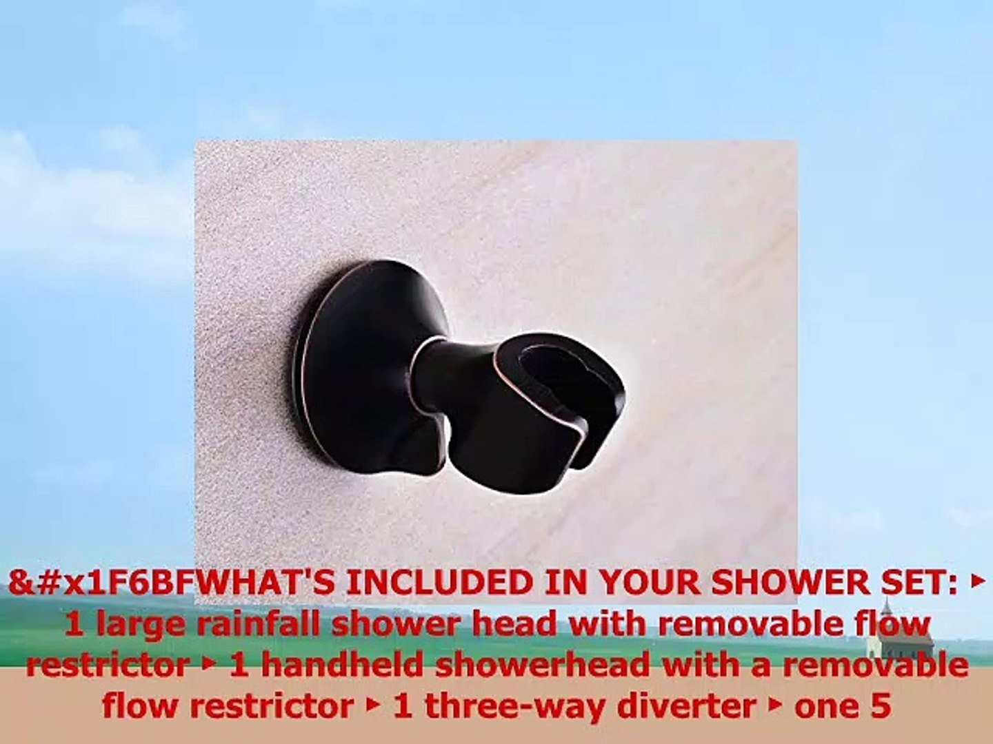 Bright Showers Rain Shower Head With Handheld Combo Set Includes Wall Mount Suction