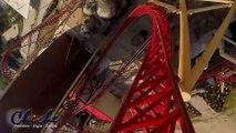 Front Seat POV Roller Coaster Ride Cannibal Lagoon Amusement Park