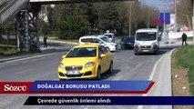 İstanbul'da metro inşaatında doğalgaz borusu delindi
