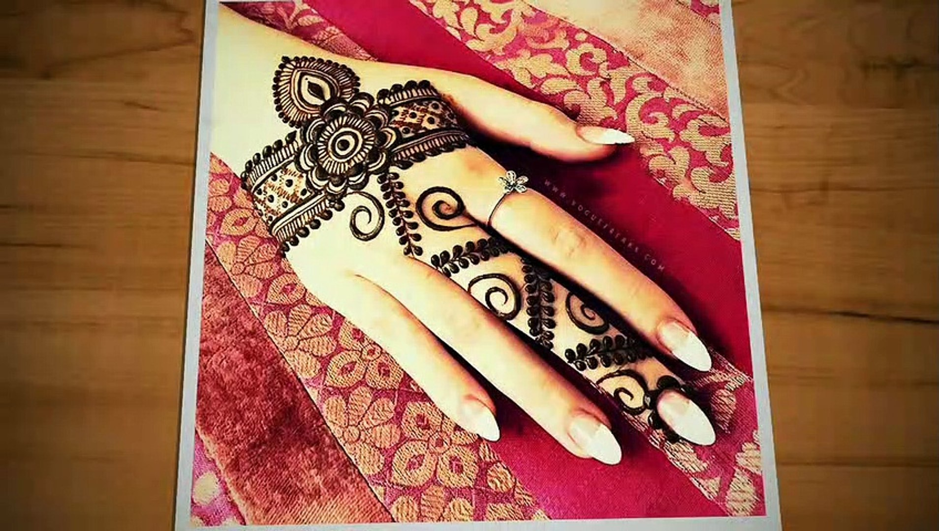 Latest beautiful easy mehndi for Back hand  Back hand special mehndi design 2019  Beautiful Henna de