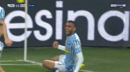 But de Mohamed Fares contre l'AS Rome