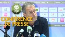 Conférence de presse Grenoble Foot 38 - AS Nancy Lorraine (1-0) : Philippe  HINSCHBERGER (GF38) - Alain PERRIN (ASNL) - 2018/2019