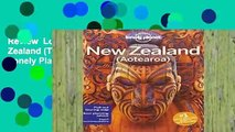 Review  Lonely Planet New Zealand (Travel Guide) - Lonely Planet