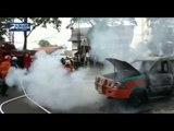 Diduga Korsleting Listrik, Sebuah Angkot Cicaheum-Ciroyom Ludes Terbakar