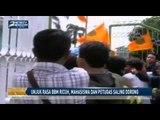 Unjuk Rasa BBM Ricuh, Mahasiswa dan Petugas Saling Dorong