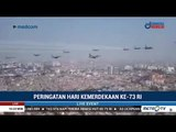Suasana 17 Pesawat Sukhoi Melintasi Langit Upacara Peringatan HUT ke-73 RI di Istana