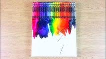 Comment Faire Fondu crayons de bricolage sur la toile   DIY French Arts & Crafts