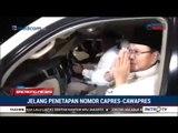 Suasana Prabowo-Sandi Berangkat Ke KPU Untuk Pengundian Nomor Urut Capres