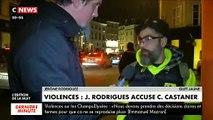 """Après les violences d'hier, le gilet jaune Jérôme Rodrigues accuse : """"Que fait Castaner ? Que fait le Ministère ? Est-ce que cela ne sert pas l'exécutif ?"""""""