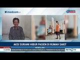Aksi Petugas Kebersihan Hibur Pasien RSUD Polewali Mandar