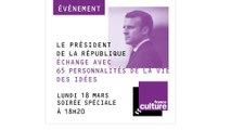 Grand débat : Emmanuel Macron échange avec des intellectuels
