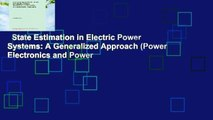 PDF] State Estimation in Electric Power Systems: A