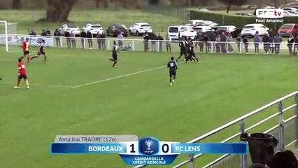 Coupe Gambardella-Crédit Agricole, 1/4 de finale - Bordeaux - Lens (1-0) , le résumé I FFF 2018-2019