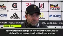 """(Subtitled) """"We won't show the nerves you are all waiting for"""" says Klopp as Liverpool stay in EPL title race with win at Fulham"""