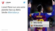 Liga. Grâce à un triplé de Messi, Barcelone se promène face au Betis Seville
