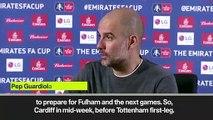 (Subtitled) Guardiola on 'crazy' fixture schedule