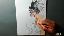 Drawing - Asta - Demon form ( Black Clover ) [ ブラッククローバー ]