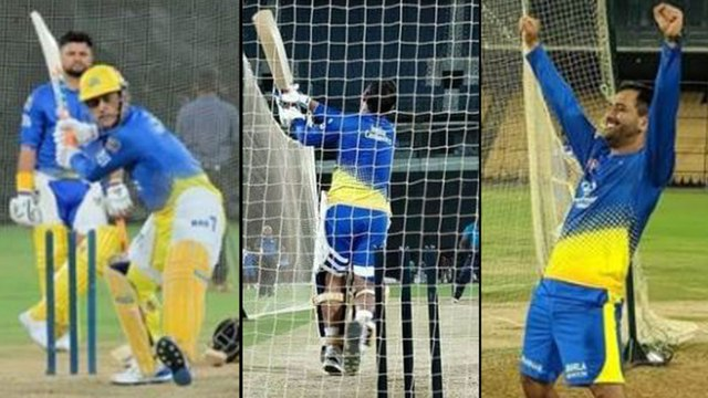 IPL 2019: MS Dhoni Joins CSK Practice,Warms Up for IPL In Style | Oneindia Telugu