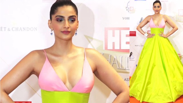 Sonam Kapoor graces at Red Carpet Hello Hall Awards in Bold Look; Watch Video | FilmiBeat