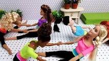 Barbie séance d'Entraînement de Yoga Class part 4 バービー人形のヨガワークアウトクラスBoneka Barbie séance d'Entraînement de Yoga Kelas