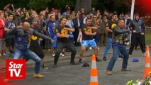 NZ bikers perfom Haka in tribute for shooting victims