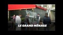 Après l'acte XVIII le grand nettoyage sur les Champs-Élysées
