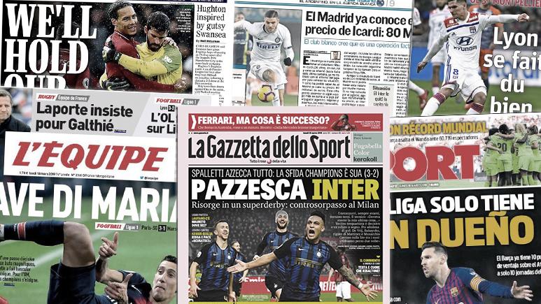 Messi impressionne la presse espagnole, la victoire de Liverpool au forceps fait les gros titres