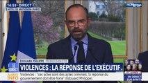 À Paris, Bordeaux, Toulouse... Edouard Philippe annonce l'interdiction  des manifestations de gilets jaunes dans les quartiers les plus touchés