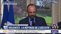 """Edouard Philippe appelle """"les manifestants pacifiques à prendre leurs distances avec les casseurs"""""""