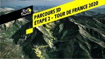 Tour de France 2020 – Étape 2 - Parcours 3D