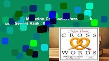 New York Magazine Crossword Puzzle Book  Best Sellers Rank : #5