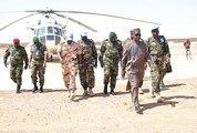 Le Ministre d'Etat chargé des Affaires présidentielles et de la Défense nationale a rendu une visite surprise aux soldats guinéens du Bataillon Gangan 4 basés à Kidal au Mali