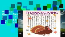 About For Books  Thanksgiving Word Search: Large Print Thanksgiving Word Search Puzzle (Holiday