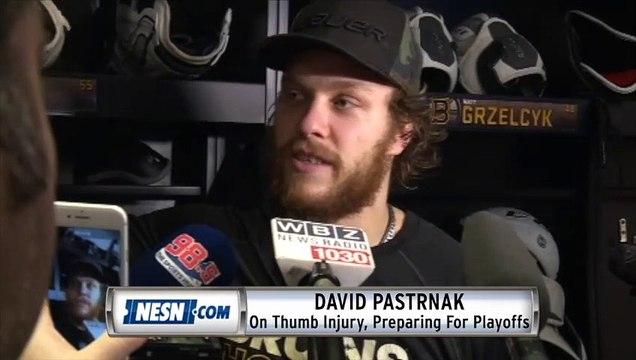 David Pastrnak On Preparing For Playoffs After Thumb Injury