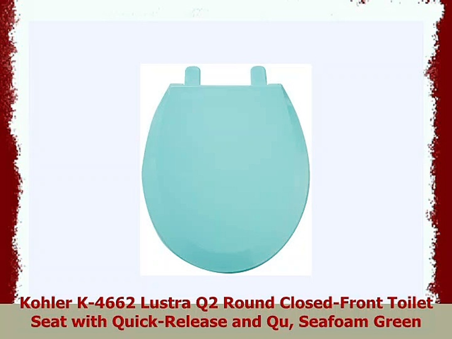 Admirable Kohler K4662 Lustra Q2 Round Closedfront Toilet Seat With Quickrelease And Qu Seafoam Ncnpc Chair Design For Home Ncnpcorg