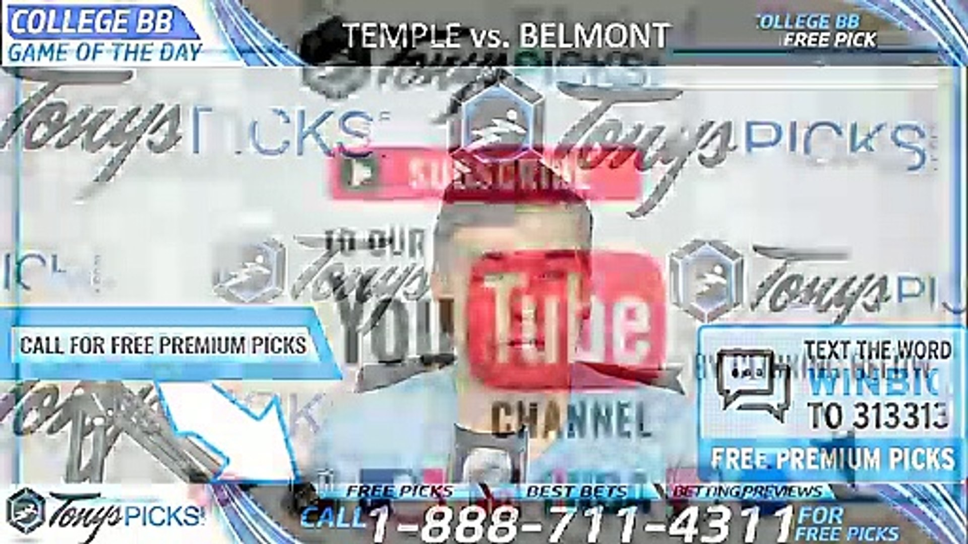 Temple vs  Belmont 3/19/2019 Picks Predictions