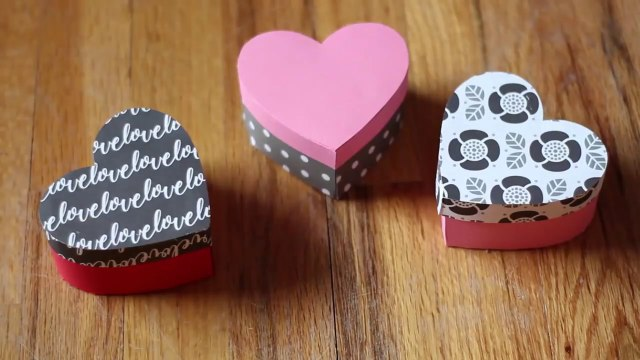 How To Make A Heart Shaped Paper Gift Box  DIY Gift Box