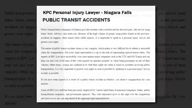 Niagara Falls Injury Lawyer – KPC Personal Injury Lawyer (800) 234-6145