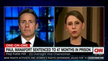 One-On-One with Rep. Katie Hill on Paul Manafort sentenced to 47 months in prison. #PaulManafort #DonaldTrump #News #Breaking #ChrisCuomo #CuomoPrimeTime @KatieHill4CA