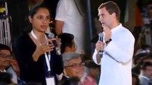 जब Rahul Gandhi से एक लड़की ने 'चौकीदार चोर है' पर पूछा सवाल, फिर क्या हुआ ? | वनइंडिया हिंदी