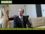 Actu24 - Rudy Demotte reçoit Miss Belgique