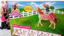 """Poupée Barbie Cheval de la Marche Et de la Danse ! Barbie Selle'N Monter à Cheval, Kuda boneka Barbie Cavalo """" de boneca"""