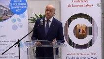 Laurent Fabius à la faculté de droit de Metz