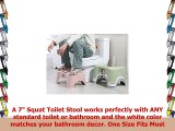 Oninaa Squat Toilet Stool Bathroom Non Slip Squat Toilet Stool with Cell Phone
