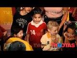 Lety Calderón festejó a sus hijos ¡dentro del Estadio Azteca!