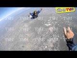 Sergio Mayer Mori sigue los pasos de su papá, se aventó de un paracaídas ¡a 4 mil metros de altura!